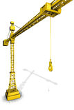 Crane gold Stock Photography