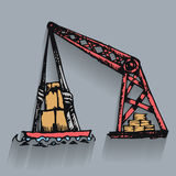 Crane goods lift Stock Photo