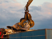 Crane Grabber. Scrap metal goes to recycling Stock Photography