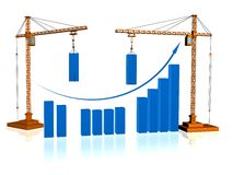 Crane and graphic Royalty Free Stock Images