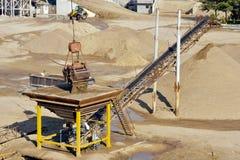 Crane with gravel Stock Photo