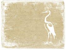 Crane on grunge background Stock Photography