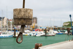 Crane in harbor Dieppe Royalty Free Stock Photo