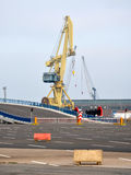 Crane in harbor, Germany, Europe Royalty Free Stock Photography