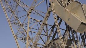 Crane in the harbor. TENERIFE , CANARY ISLANDS, SPAIN - November 2015 - Crane in the harbor stock video