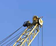 crane in the harbour of marina di carrara Royalty Free Stock Image