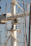 crane in the harbour of marina di carrara Royalty Free Stock Photos