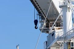 crane in the harbour of marina di carrara Stock Photo