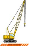 Crane. Heavy construction machines. Vector Stock Images