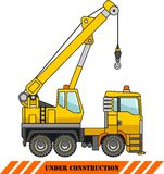 Crane. Heavy construction machines. Vector illustration Royalty Free Stock Images