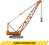 Crane. Heavy construction machines. Vector illustration Royalty Free Stock Photos