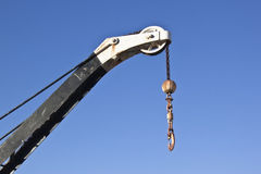 Crane hoist with blue sky background Royalty Free Stock Images