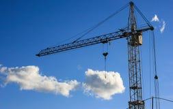 Crane holding precious cargo Stock Photos