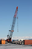 Crane in Homer Alaska Royalty Free Stock Images