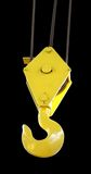 Crane Hook. A winched hook for lifting heavy objects Royalty Free Stock Photo