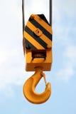 Crane Hook. On a blue sky Royalty Free Stock Photo
