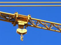 Crane Hook. The hook of a construction crane against a blue sky Royalty Free Stock Image