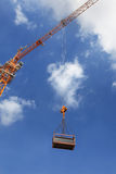 Crane Hook. On a blue sky stock photography