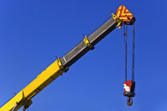 Crane with hook royalty free stock photo