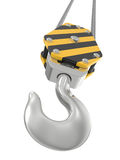 Crane hook 3d render Royalty Free Stock Images