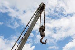 Crane Hook Fotografia Stock Libera da Diritti
