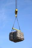 Crane hook with aluminum cargo Stock Photos