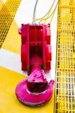 Crane Hook auf Boden, stockfoto