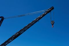 Crane with hook Stock Photo