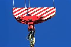 Crane hook block Royalty Free Stock Photos
