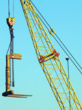 Crane hook at the commercial dock of Venice, Italy Royalty Free Stock Photos