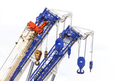Crane hook of construction crane for heavy lifting Royalty Free Stock Photography