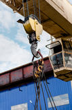 Crane hook at construction site Stock Photography
