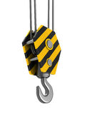 Crane hook. 3d illustration of crane hook object isolated over white background Royalty Free Stock Photos