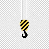 crane hook on empty background black yeloow vector illustration