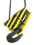 Crane Hook Isolato Fotografie Stock Libere da Diritti