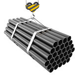 Crane hook lifting of steel pipes close-up Royalty Free Stock Photography