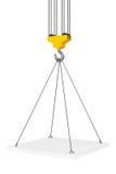 Crane Hook Lifts la piattaforma rappresentazione 3d Immagine Stock Libera da Diritti