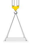 Crane Hook Lifts la piattaforma rappresentazione 3d Immagini Stock Libere da Diritti