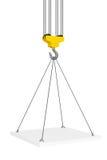 Crane Hook Lifts la plataforma representación 3d Ilustración del Vector