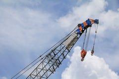 Crane Hook med blå himmel Royaltyfria Foton