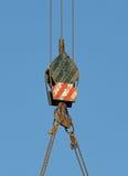 Crane hook. Over blue sky Royalty Free Stock Photos