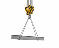 Crane hook with rail Royalty Free Stock Image