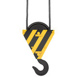 Crane hook with rope Stock Images