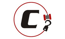 Crane Hook Towing Letter C Image libre de droits