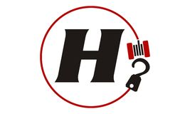 Crane Hook Towing Letter H Stock Foto's