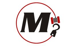 Crane Hook Towing Letter M Images stock