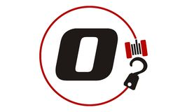 Crane Hook Towing Letter O Image stock