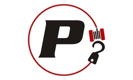 Crane Hook Towing Letter P Images stock