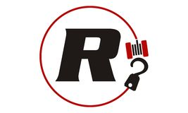 Crane Hook Towing Letter R Image stock