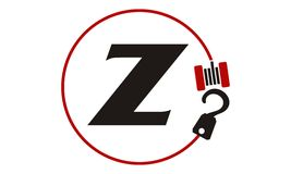 Crane Hook Towing Letter Z Photographie stock libre de droits
